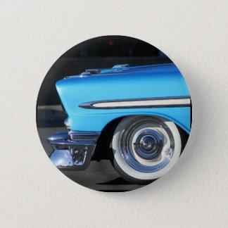 Blue Classic Car Pinback Button