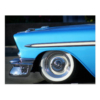 Blue Classic Car Postcard