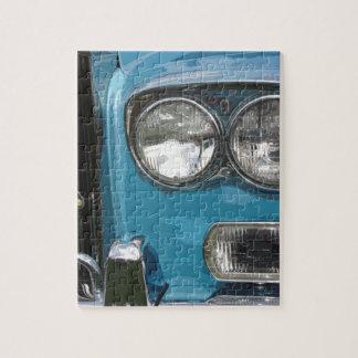 BLUE CLASSIC CAR PUZZLE