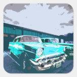 Blue Classic Car Stickers