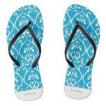 Blue Classical patterns Flip Flops