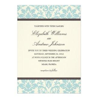 BLUE CLASSY DAMASK | WEDDING INVITATION