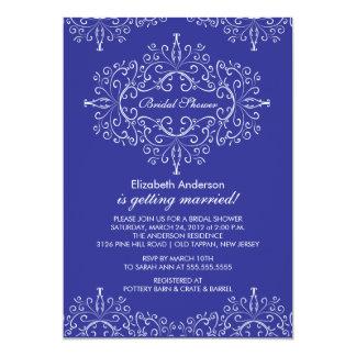 Blue Classy Frame Bridal Shower Invitation