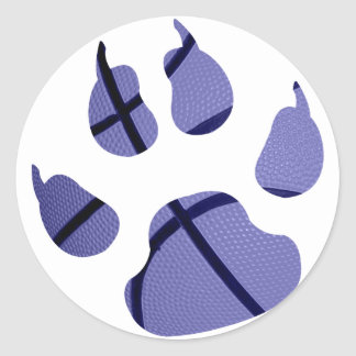 Blue Claw Classic Round Sticker