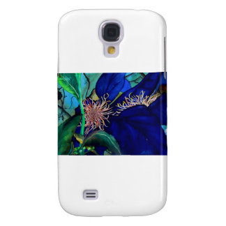 Blue Clematis Galaxy S4 Cover