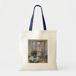 Blue Clematis in studio of the artist Anna Ancher Tote Bags