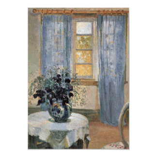 Blue Clematis in studio of the artist Anna Ancher Card
