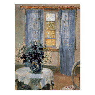 Blue Clematis in studio of the artist Anna Ancher Postcard
