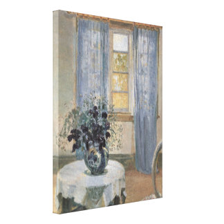 Blue Clematis in the Artist's Studio, Anna Ancher Canvas Print