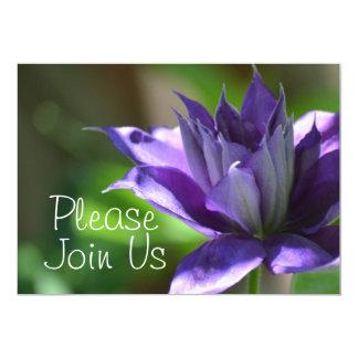 Blue Clematis Invitation