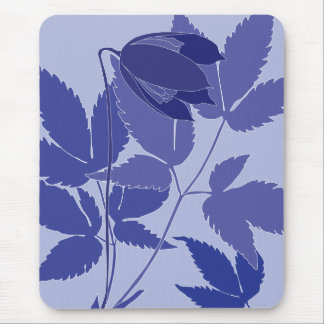 blue clematis mousepads