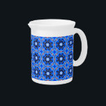 "Blue Clematis Porcelain Pitcher by C.L. Brown<br><div class=""desc"">Quench even the biggest of thirsts with an artist-designed porcelain pitcher from Zazzle. The Blue Clematis Porcelain Pitcher designed by Artist C.L. Brown features a light painting edited for design into a seamless pattern in contemporary shades of vibrant blues that form exotically re-imagined clematis flowers for a look that you...</div>"