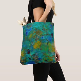 Blue Cliff Chrysocolla Tote Bag
