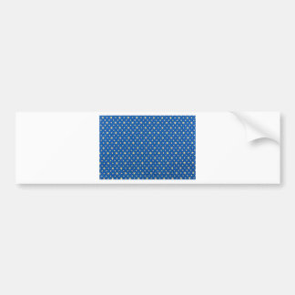 Blue cloth with golden stars for christmas bumper sticker