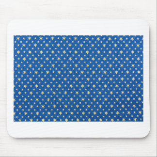 Blue cloth with golden stars for christmas mouse pad