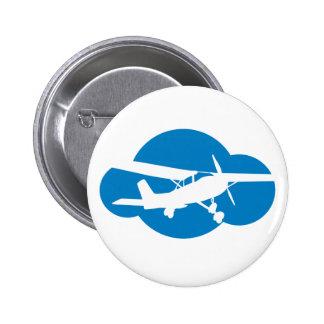 Blue Cloud & Aviation Plane 2 Inch Round Button