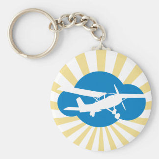 Blue Cloud & Aviation Plane Keychain