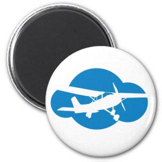 Blue Cloud & Aviation Plane Magnet
