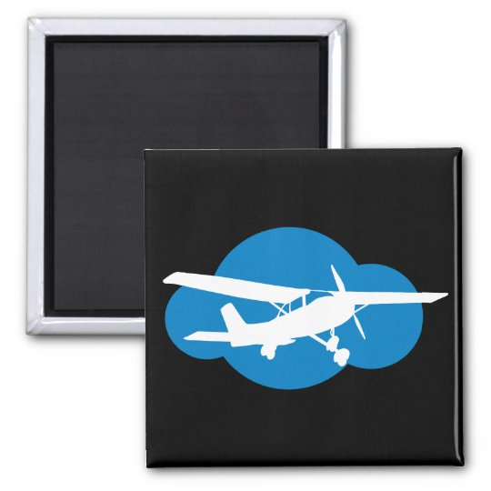 Blue Cloud & Aviation Plane Magnet