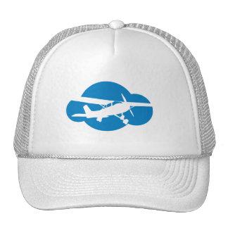 Blue Cloud & Aviation Plane Mesh Hats