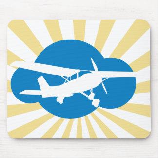 Blue Cloud & Aviation Plane Mouse Pad