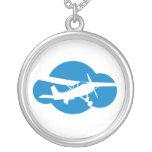 Blue Cloud & Aviation Plane Necklaces