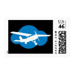 Blue Cloud & Aviation Plane Stamps
