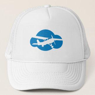 Blue Cloud & Aviation Plane Trucker Hat
