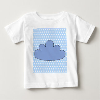 Blue Cloud on Blue and White Polka Dots. Baby T-Shirt