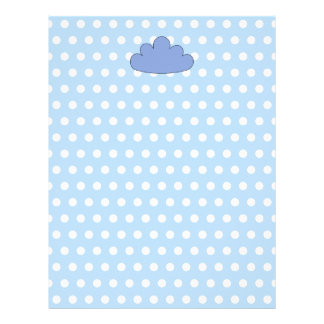 Blue Cloud on Blue and White Polka Dots. Letterhead