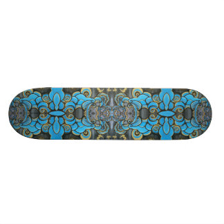 Blue Cloud Patterned Skateboard