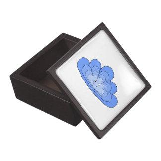 Blue Cloud with Smile on White. Premium Keepsake Boxes