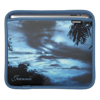 Blue Clouded Skies iPad Sleeve *personalize*