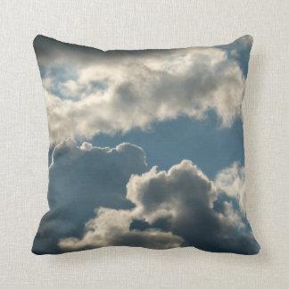 blue clouded sky storm florida weather throw pillows
