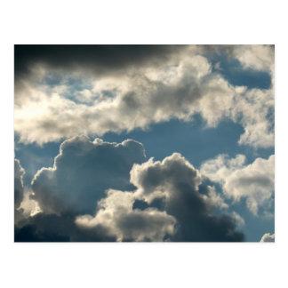 blue clouded sky storm florida weather postcard