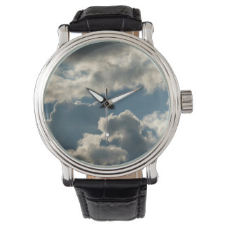 blue clouded sky storm florida weather wristwatch