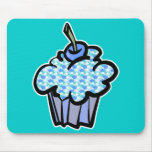 blue clouds cupcake mouse pad