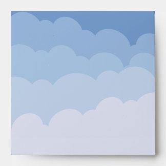 Blue clouds enveloppe envelope