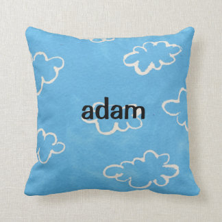 Blue Clouds Pillow Custom Personalized