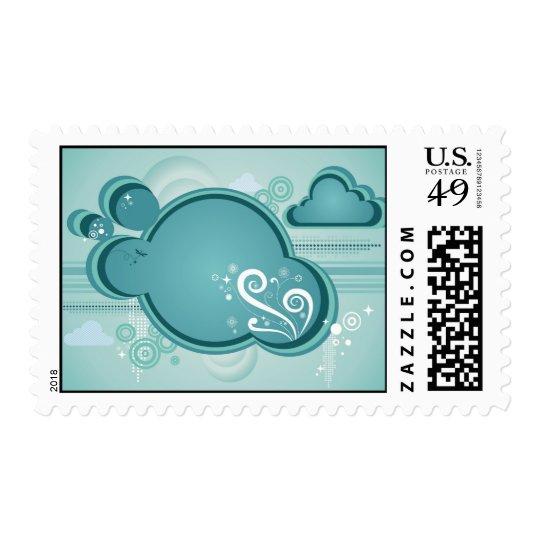 Blue Clouds Postage Stamp