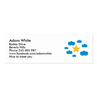 Blue clouds star business card template