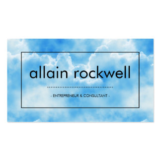 Blue Cloudy Skies Business Card