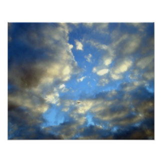 Blue Cloudy Sky Motivational Poster Print