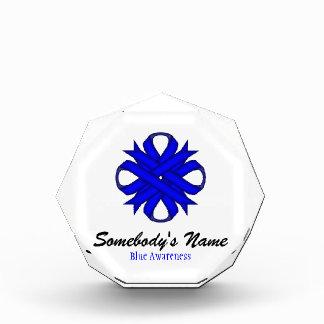 Blue Clover Ribbon Acrylic Award