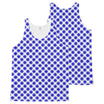 Blue Clover Ribbon All-Over-Print Tank Top