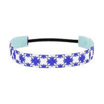 Blue Clover Ribbon Athletic Headband