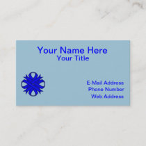 Blue Clover Ribbon Business Card