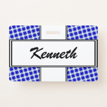 Blue Clover Ribbon by Kenneth Yoncich Badge