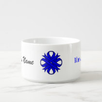 Blue Clover Ribbon by Kenneth Yoncich Bowl