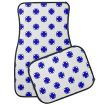 Blue Clover Ribbon by Kenneth Yoncich Car Floor Mat